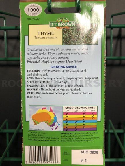 Seeds - thyme