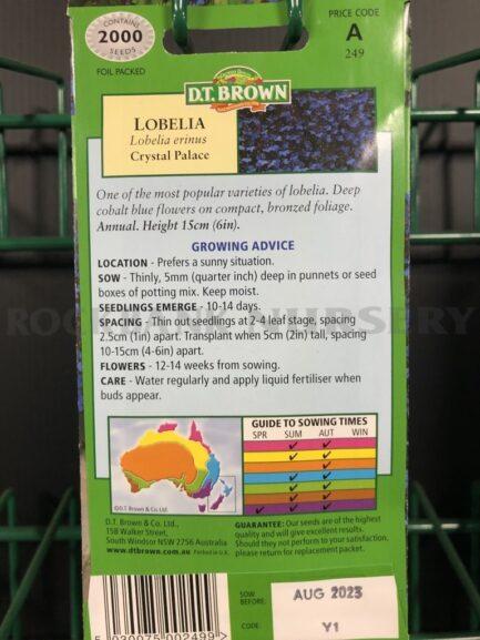 Seeds - lobelia crystal palace