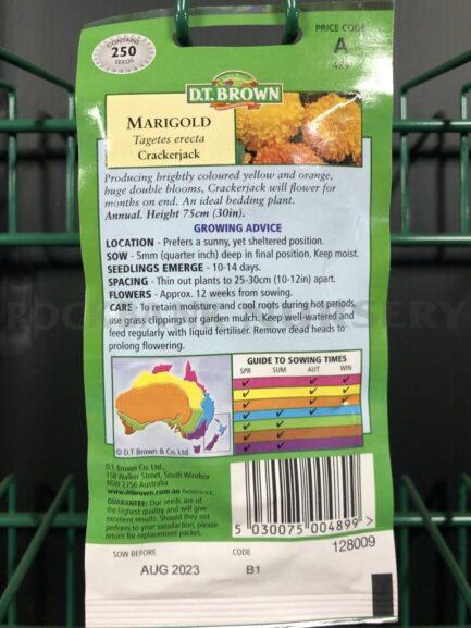 Seeds - marigold crackerjack