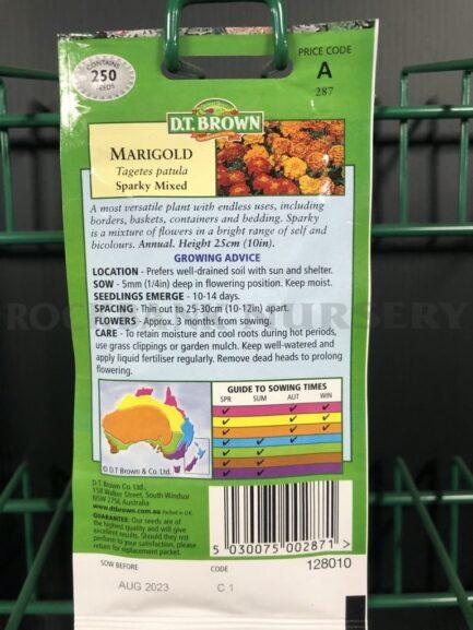 Seeds - marigold sparky mixed