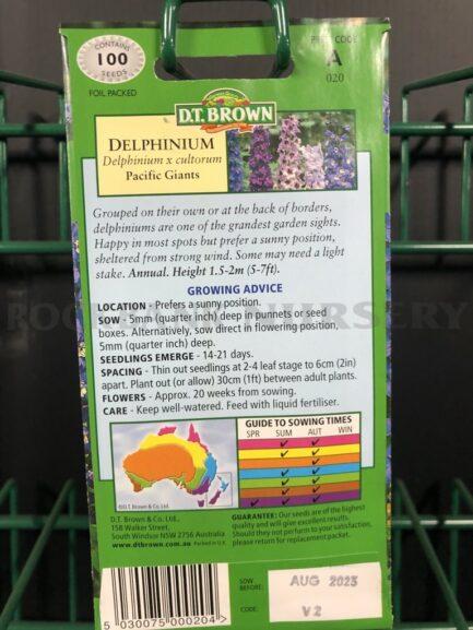 Seeds - delphinium pacific giants