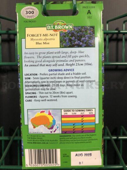 Seeds - forget-me-not blue mist